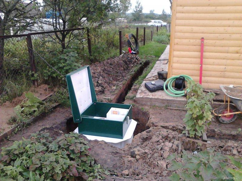 Пример автономной канализации дачного дома
