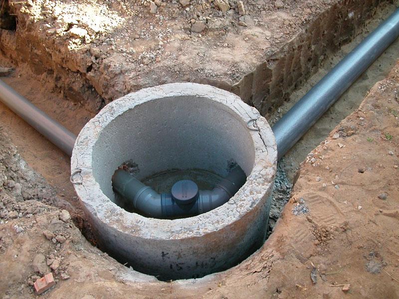 Пример канализационного колодца