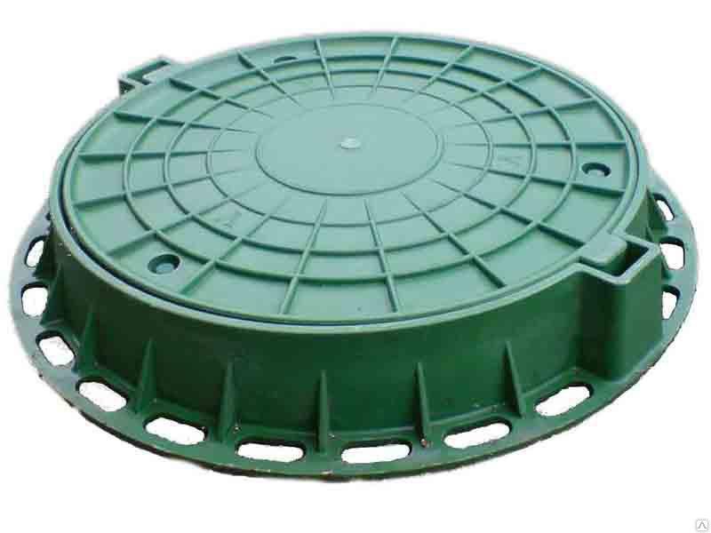 Пластиковый люк для колодца канализации