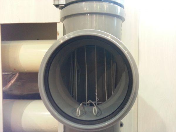 Пример заглушки для системы канализации